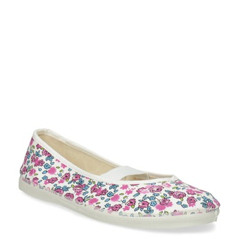Children's patterned gym shoes bata, white , 379-5001 - 13