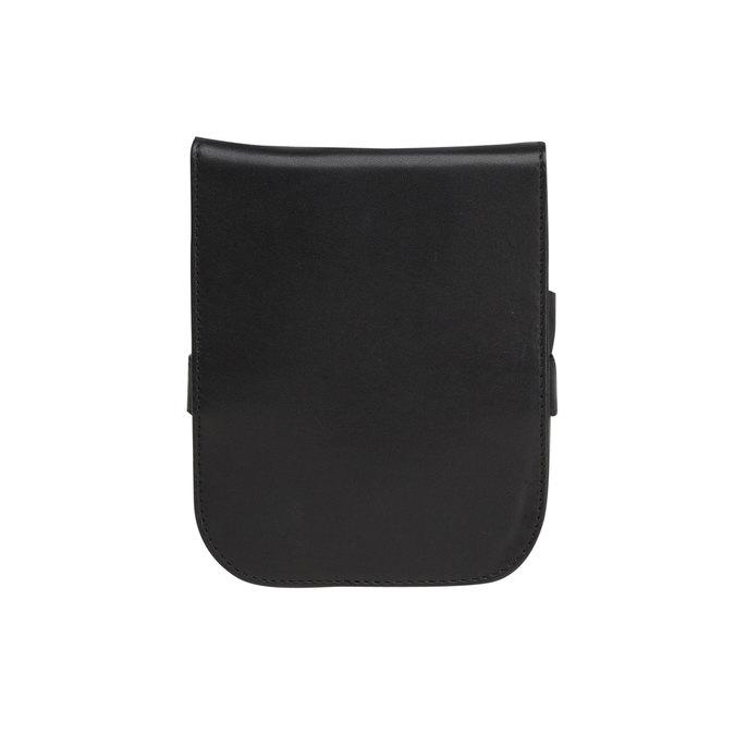 Manicure in a leather case bata, black , 944-6200 - 26