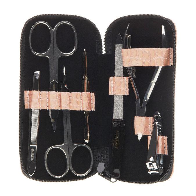 Manicure in a zippered leather case bata, multicolor, 944-0323 - 15