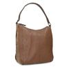 Brown leather handbag bata, brown , 964-3254 - 13