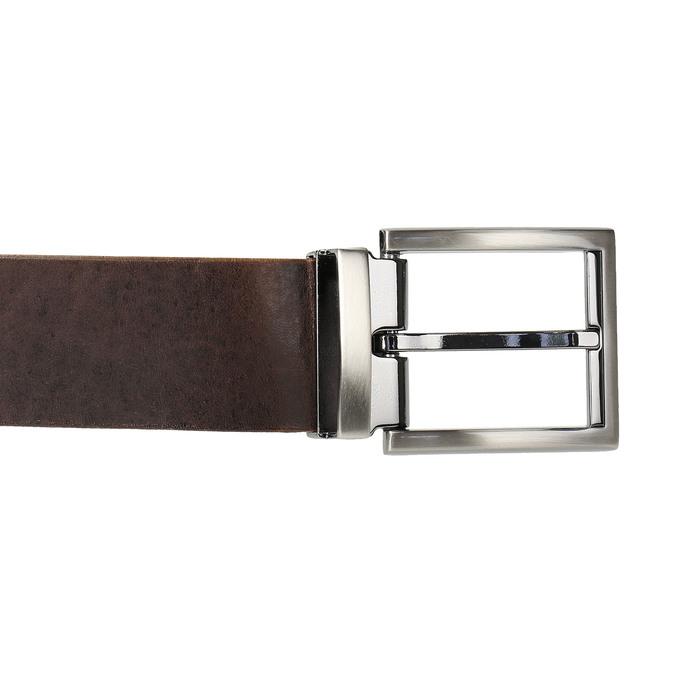 Brown leather belt bata, brown , 954-4129 - 26