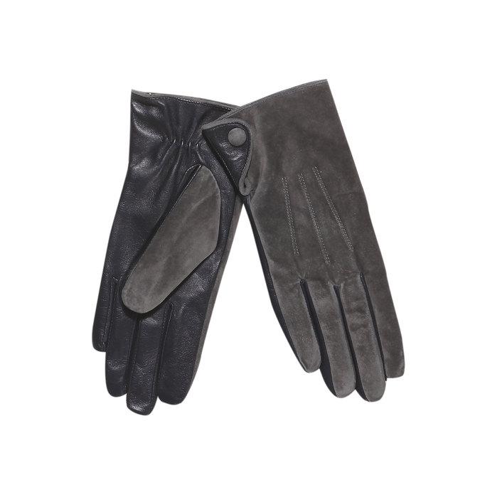 Ladies' leather gloves bata, gray , 903-2101 - 13