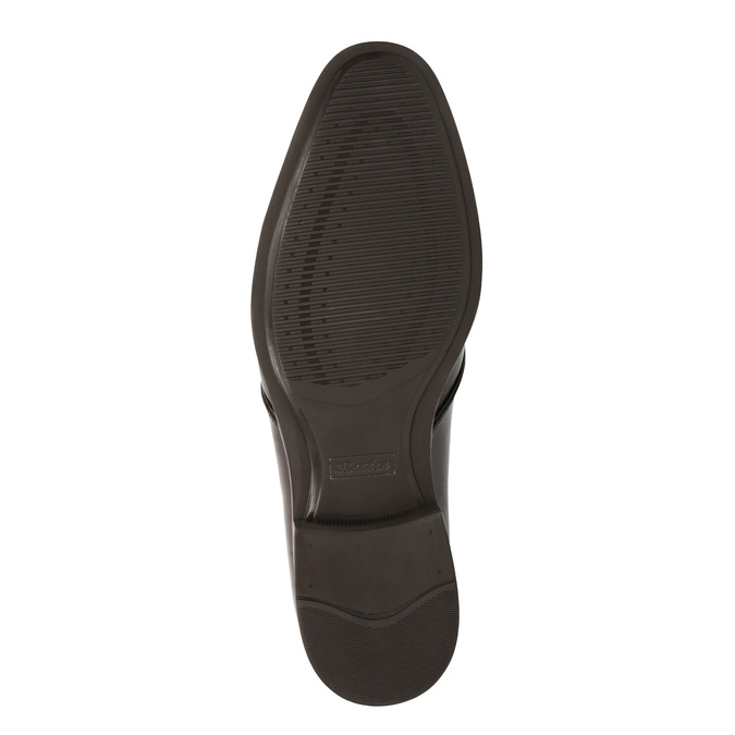 Brown leather shoes bata, brown , 824-4754 - 26