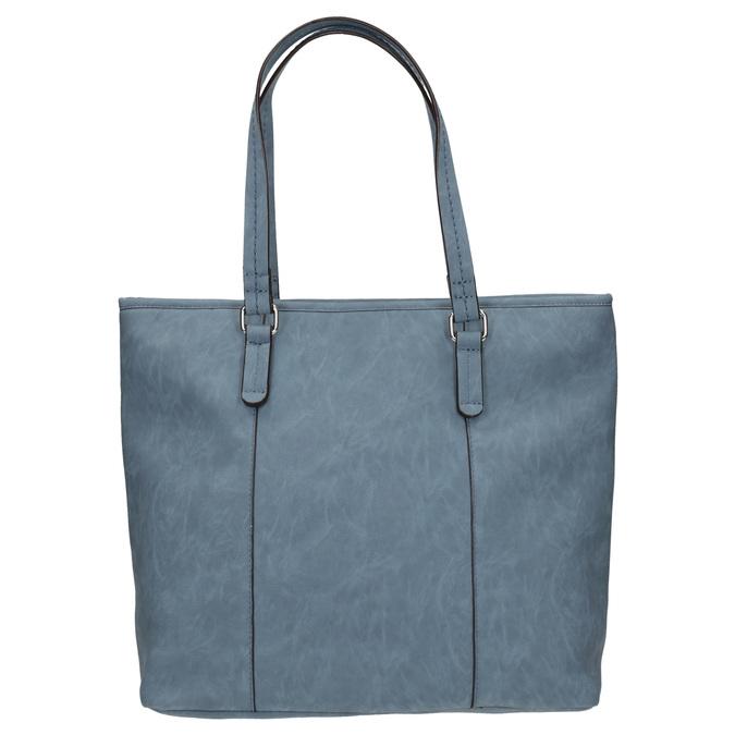 Blue handbag with perforated detail bata, blue , 961-9711 - 19