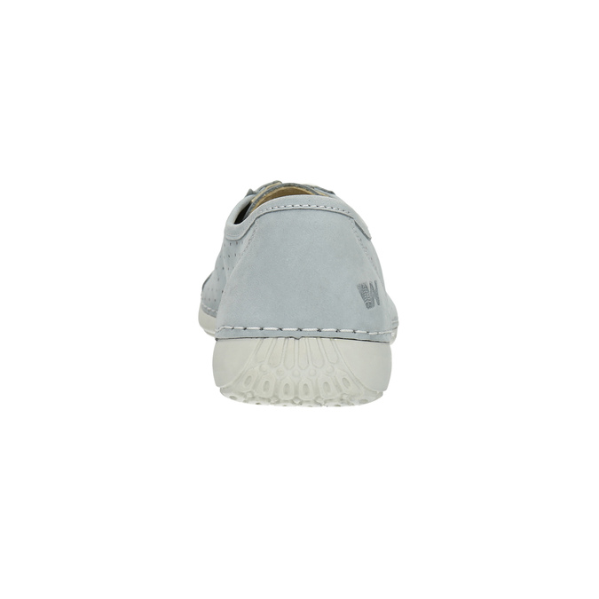 Leather low shoes with perforations weinbrenner, blue , 546-9602 - 17