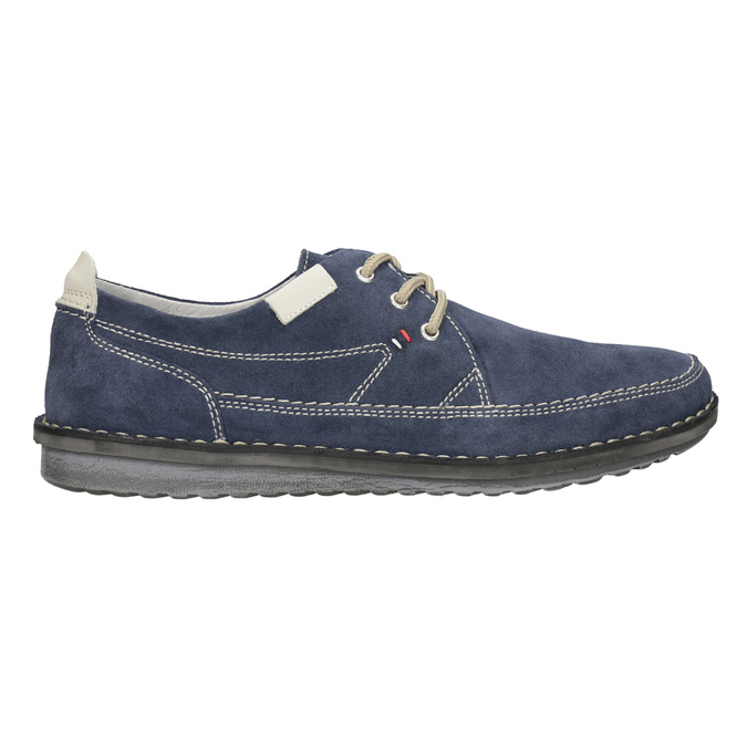 Casual leather shoes bata, blue , 853-9612 - 26