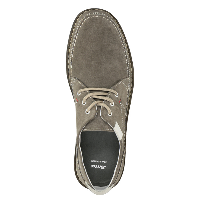 Casual leather shoes bata, gray , 853-2612 - 15