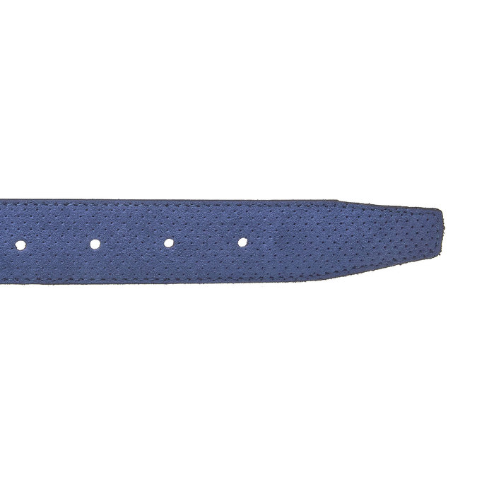 Men's leather belt with perforations bata, blue , 953-9325 - 16