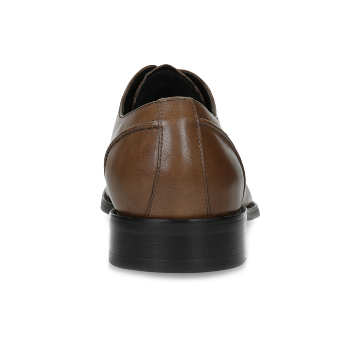 Brown Leather Derby Shoes bata, brown , 826-3646 - 15