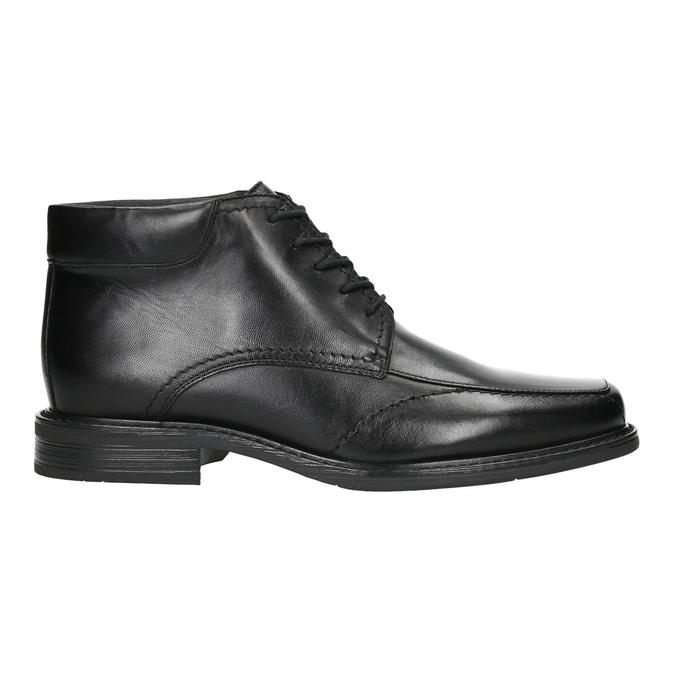 Insulated leather ankle boots bata, black , 894-6640 - 15