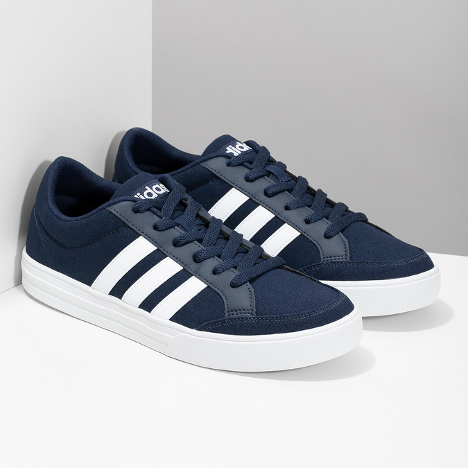 Men's casual sneakers adidas, blue , 889-9235 - 26
