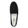 Ladies' black slip-ons tomy-takkies, black , 589-6170 - 19