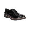 Ladies' patent oxford shoes bata, black , 521-6606 - 13
