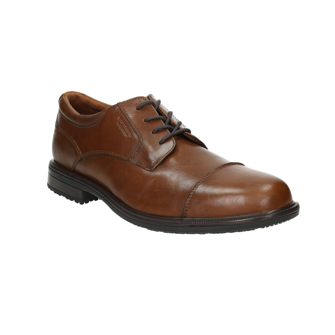 Brown leather shoes with stitching rockport, brown , 826-4020 - 13