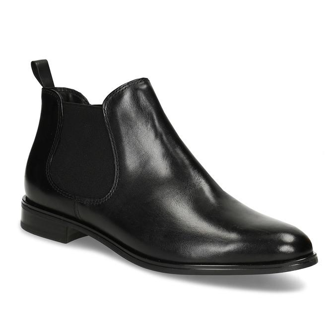 Black leather Chelsea style boots bata, black , 594-6635 - 13