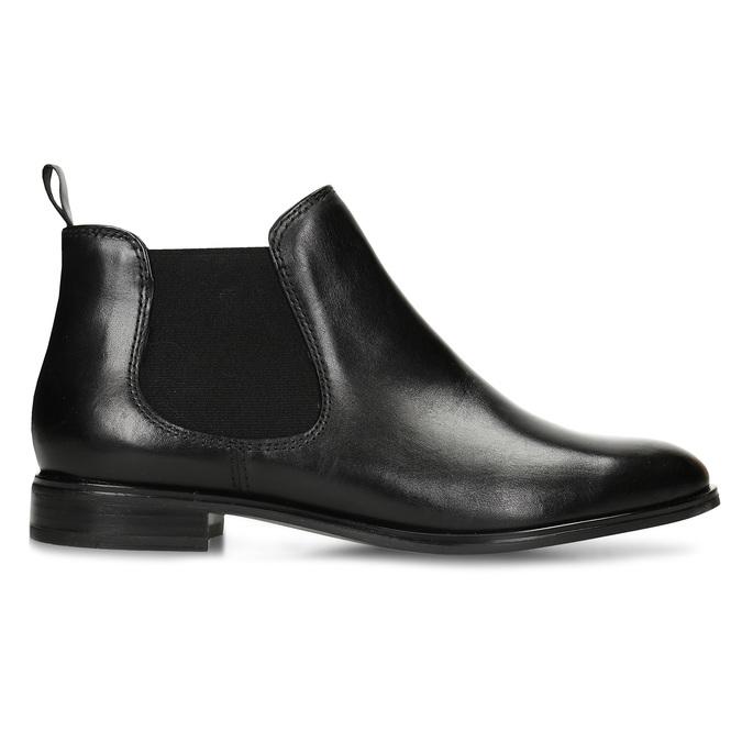 Black leather Chelsea style boots bata, black , 594-6635 - 19