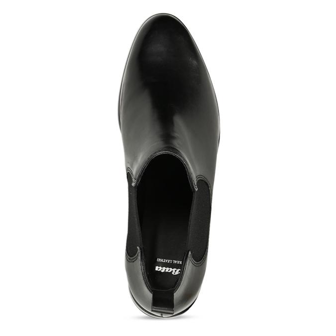 Black leather Chelsea style boots bata, black , 594-6635 - 17