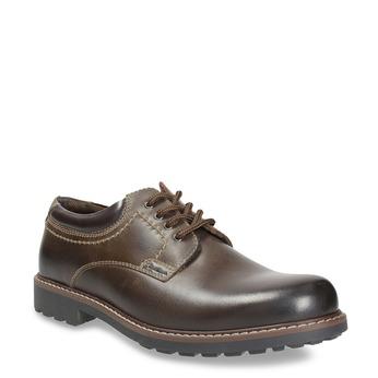 Men's leather shoes bata, brown , 826-4619 - 13