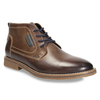 Men's leather ankle boots bata, brown , 826-4614 - 13