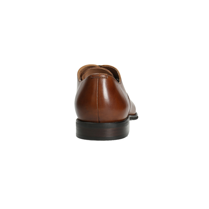 Leather Oxford shoes with decoration bata, brown , 826-3690 - 17