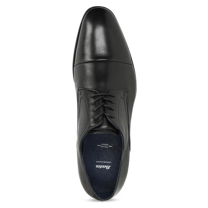 Men's leather Derby shoes bata, black , 824-6406 - 17