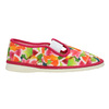 Girls' patterned slippers bata, pink , 279-5122 - 26