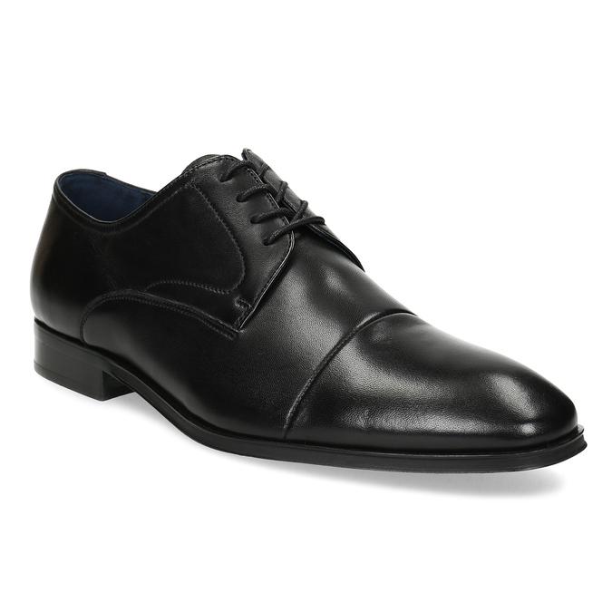 Men's leather Derby shoes bata, black , 824-6406 - 13