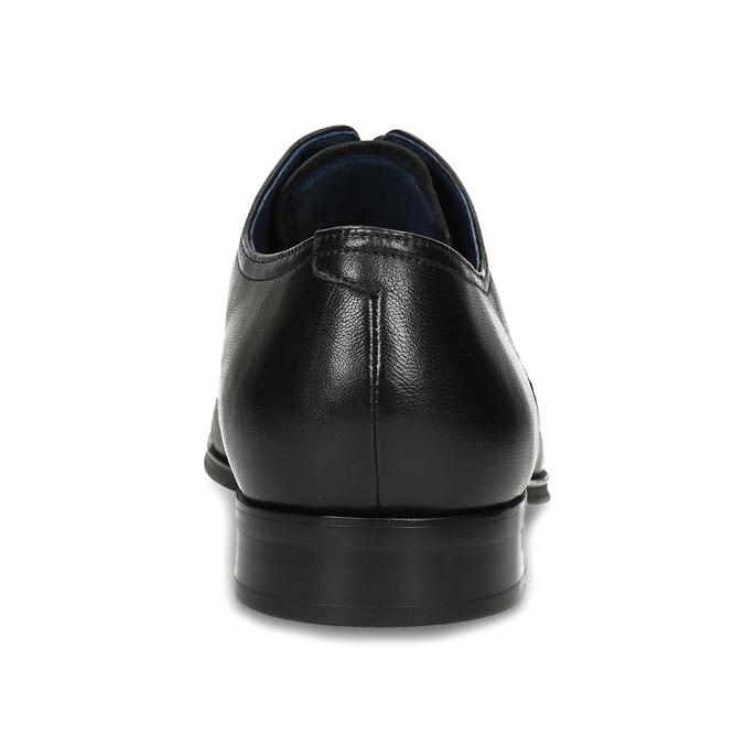 Men's leather Derby shoes bata, black , 824-6406 - 15