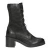 Black Leather Ankle Boots bata, black , 696-6646 - 26