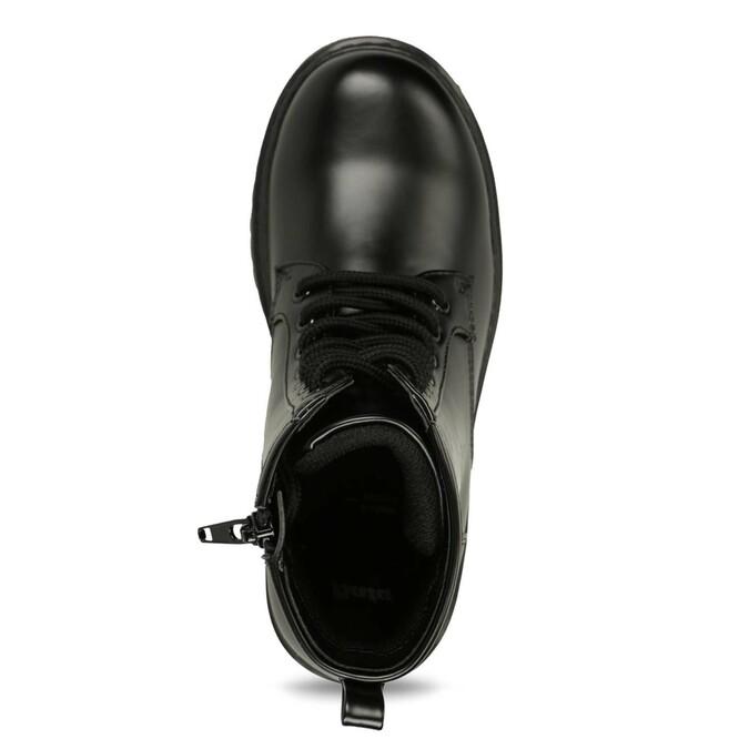 Children's Lace-Up Boots mini-b, black , 391-6407 - 17