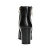 Leather high ankle boots bata, black , 694-6640 - 17