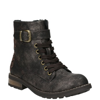 Children's Winter Boots with Embroidery mini-b, brown , 391-8654 - 13