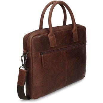 Men's leather bag with stitching bata, brown , 964-4139 - 13