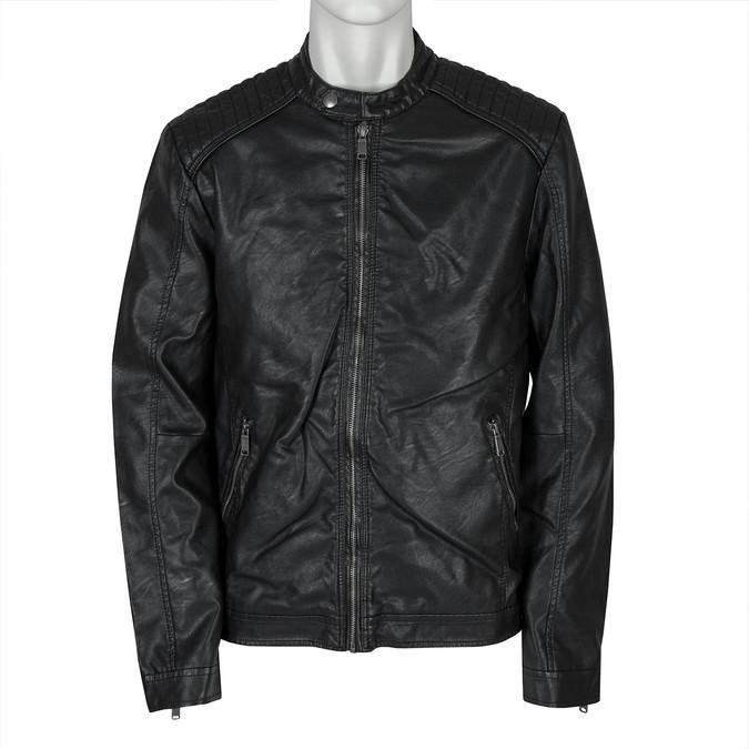 Men's Jacket with Quilting bata, black , 971-6103 - 13