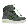 Children's Leather Winter Boots weinbrenner-junior, gray , 493-2613 - 26