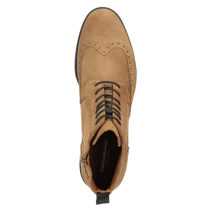 Men's Leather Ankle Boots vagabond, brown , 823-3016 - 15