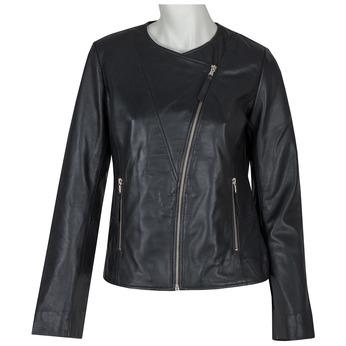 Ladies' Leather Jacket bata, black , 974-6177 - 13