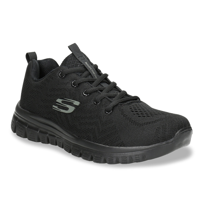 Black Athletic Sneakers with Perforations skechers, black , 509-6318 - 13