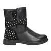 Girls' High Boots with Rhinestones mini-b, black , 291-6395 - 26