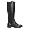Ladies' leather high boots, no zip vagabond, black , 594-6003 - 15