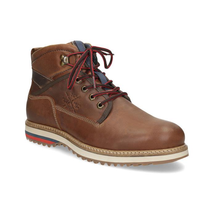 Men's Winter Ankle Boots bata, brown , 896-3677 - 13