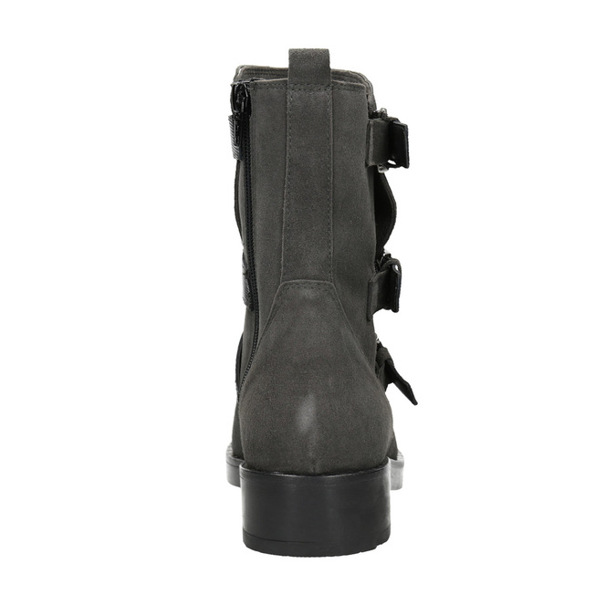 Ladies' high boots with buckles bata, gray , 593-2610 - 16
