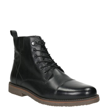 Insulated Leather Ankle Boots bata, black , 896-6662 - 13