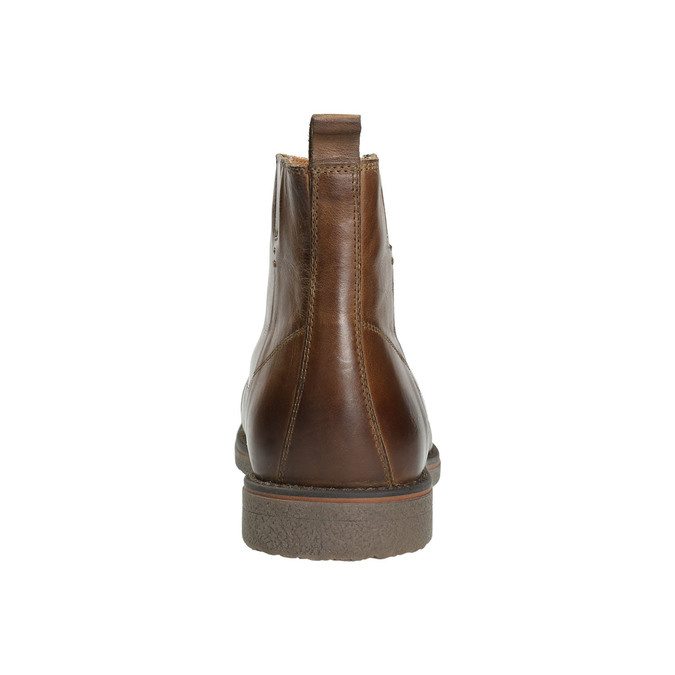 Insulated Leather Ankle Boots bata, brown , 896-4662 - 17