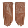 Brown leather gloves bata, brown , 904-3129 - 26