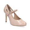 Pinkish cream-colored pumps with cut-outs insolia, beige , 721-8614 - 13