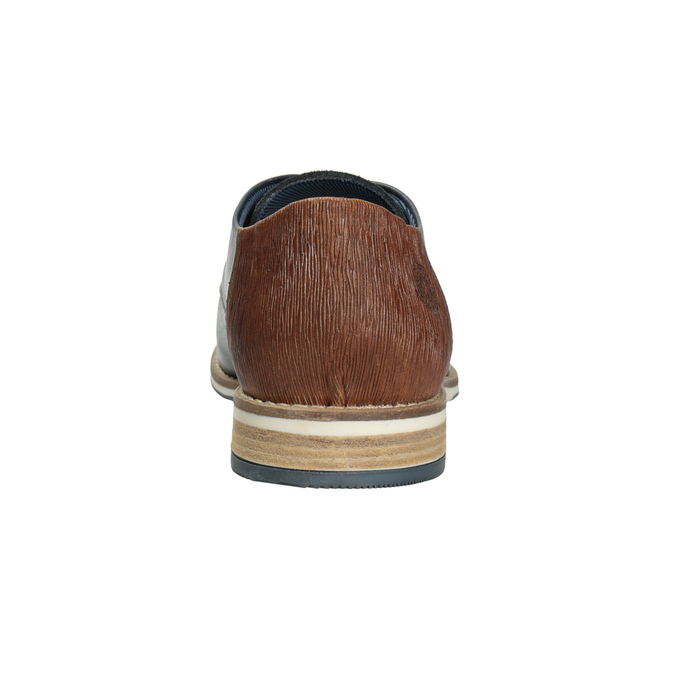 Men's leather Derby shoes bata, blue , 826-9924 - 16