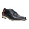 Men's leather Derby shoes bata, blue , 826-9924 - 13