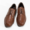 Brown leather dress shoes fluchos, brown , 824-3451 - 16