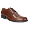 Men's dress shoes with stitching bata, brown , 826-4995 - 13